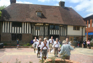 Morris Dancers outside Bridge Cottage