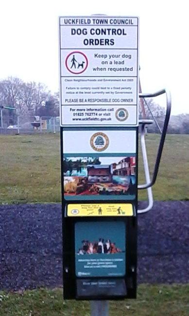 Dog bag dispenser Ridgewood Recreation Ground