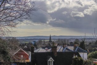 Photo of Uckfield rooftops in winter