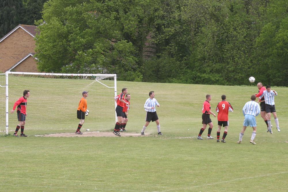 Footballers at Victoria Pleasure Ground