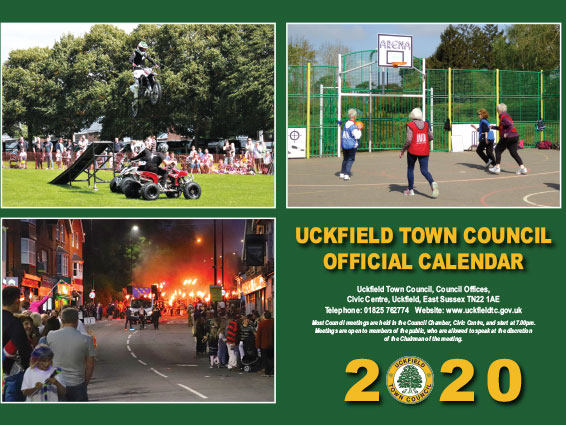 photo of the front of the calendar 2020
