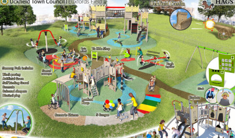 Luxford field play area diagram by HAGS