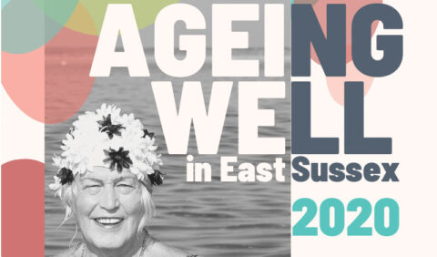 Ageing Well 2020 cover image with elderly lady in swimming hat