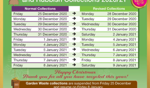 image of the Christmas Recycling and Rubbing collections 2020-21