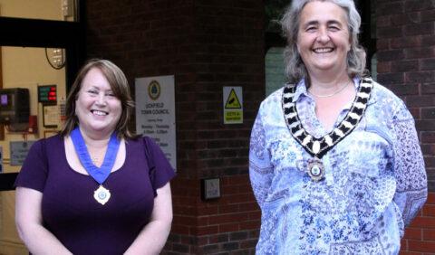 Cllr Donna French, Deputy Mayor and Cllr Jackie Love, Town Mayor