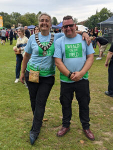 The Mayor Cllr Jackie Loe and Cllr Spike Mayhew